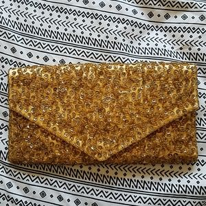 Vintage Sequined Clutch Purse